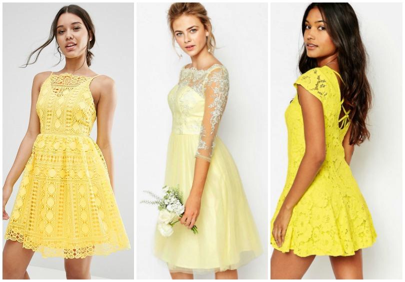 Robe jaune a un mariage