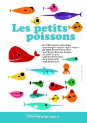 les petits poissons dans l eau paroles à imprimer gratuitement en haute définition pour les écoles maternelles