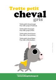 trotte petit cheval gris paroles de la comptine à télécharger et imprimer gratuitement pour les écoles maternelles