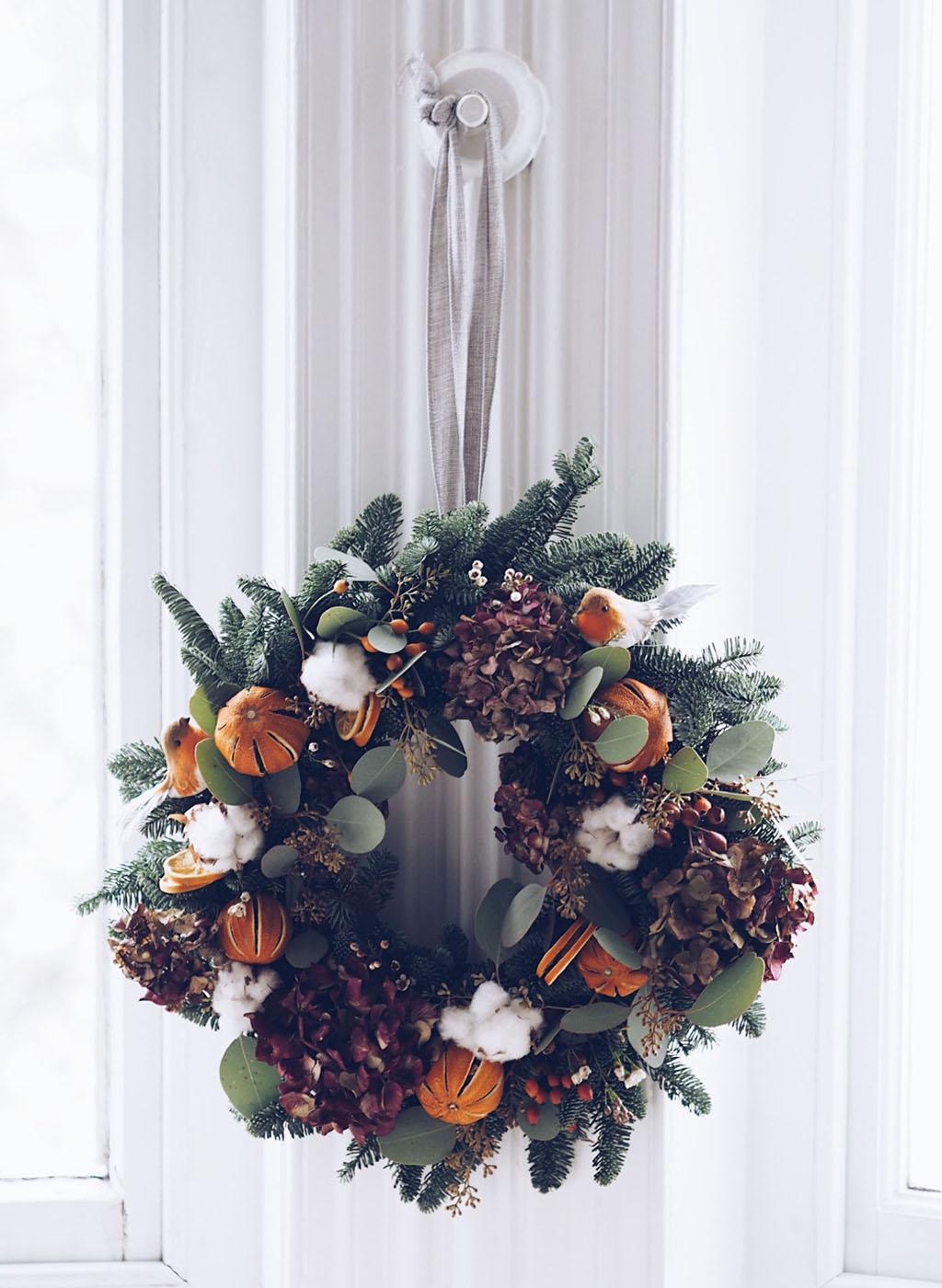 Christmas wreath making lesson with Kate Langdale Brighton Lareese Craig Brighton blogger