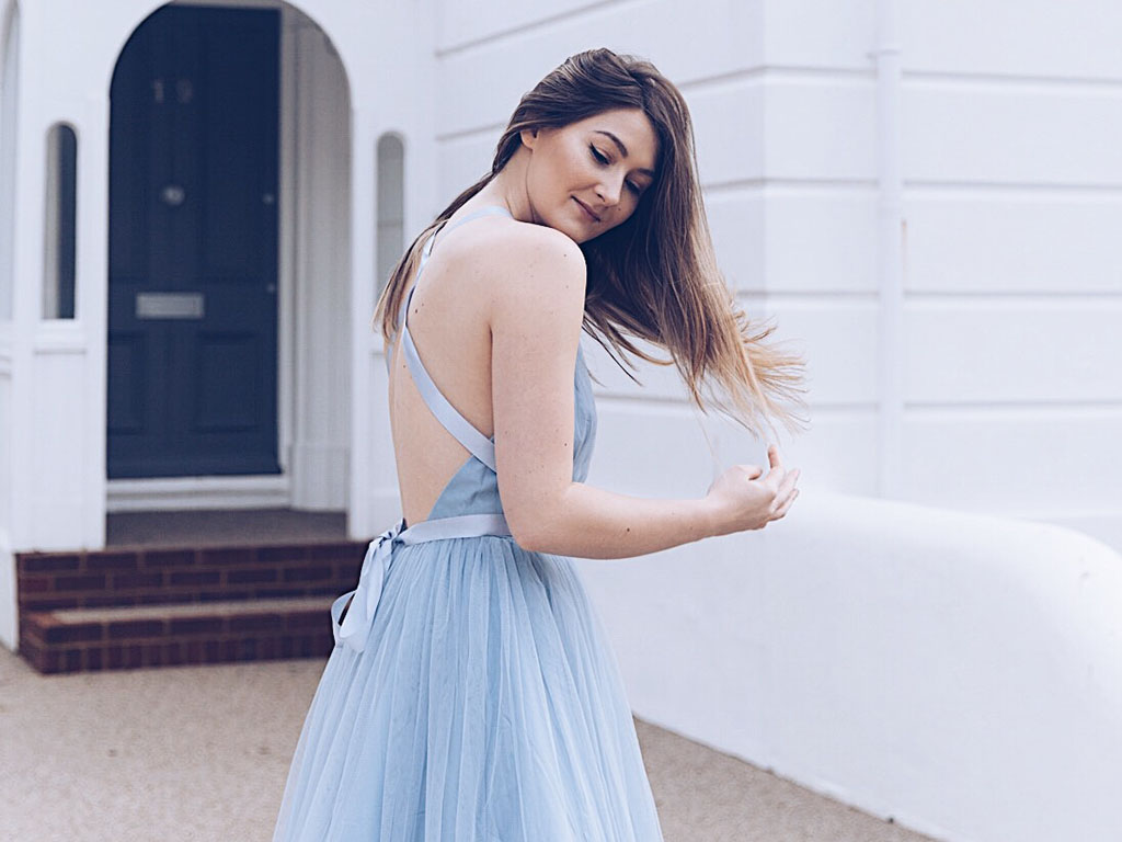 Asos tulle prom dress