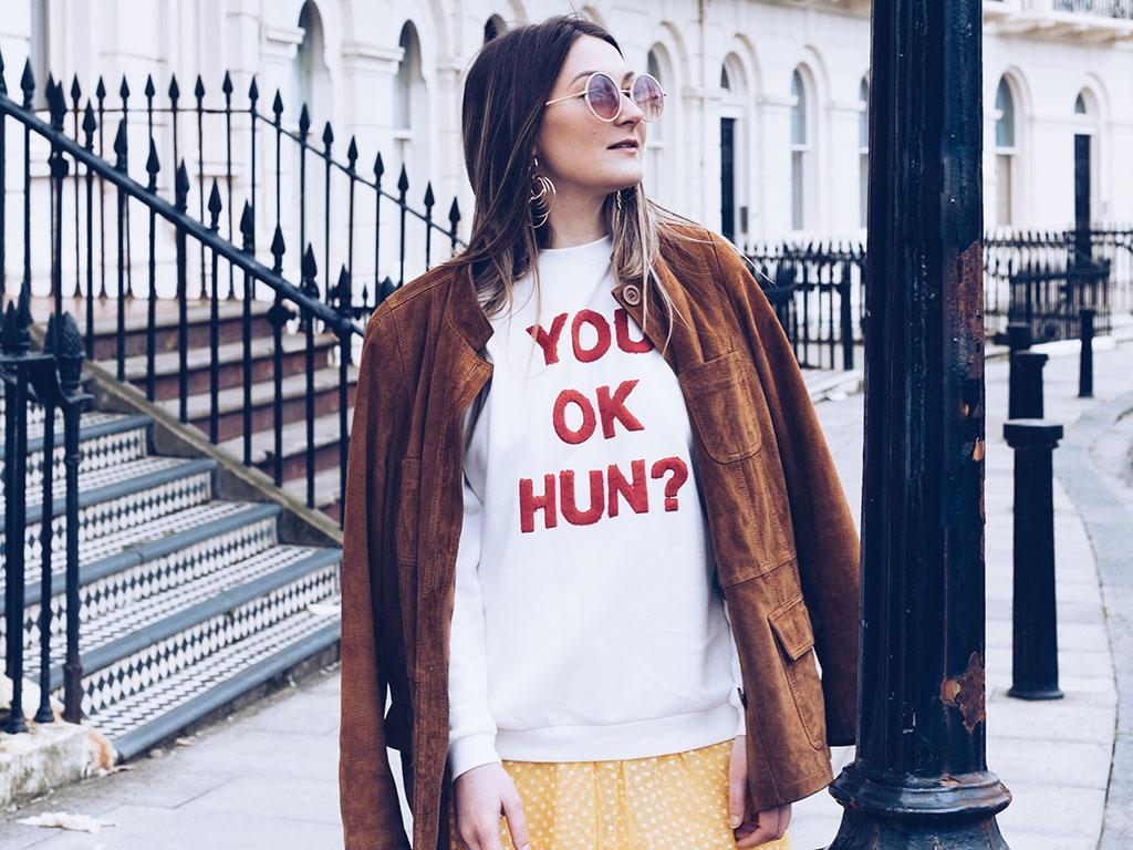 Primark you ok hun slogan jumper
