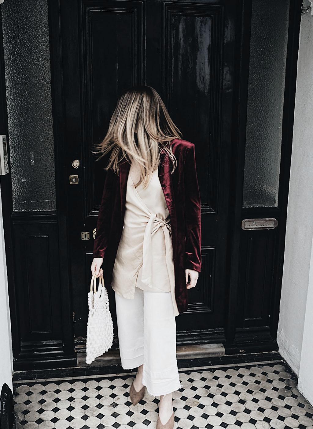 Tobi demi natural wrap dress cara blazer lareese craig fashion blogger
