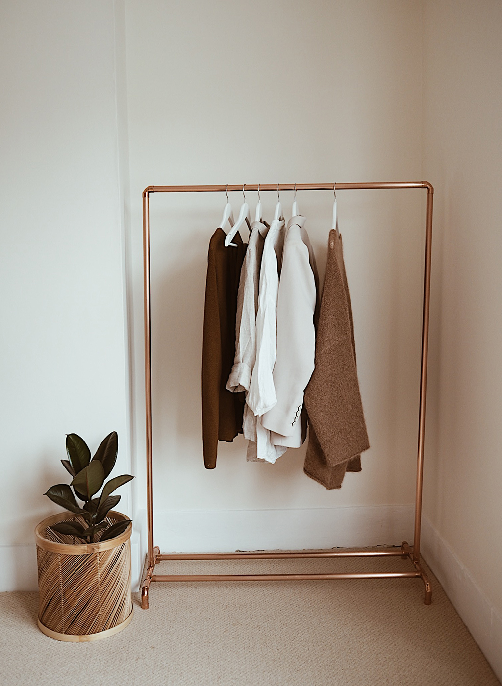 interior styling, the little deer, clothes rail, bedroom styling