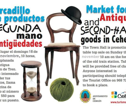 Cartel del Mercadillo de Antiguedades y Segundamano