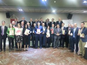 El consejero de Agricultura y Agua, Antonio Cerdá, junto con los premiados en el concurso nacional 'Reino de la Monastrell'