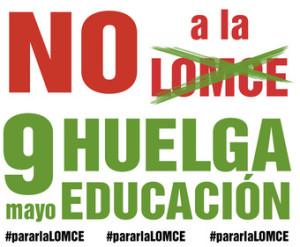 Cartel Huelga General de la ensenanza publica 9 de mayo 2013