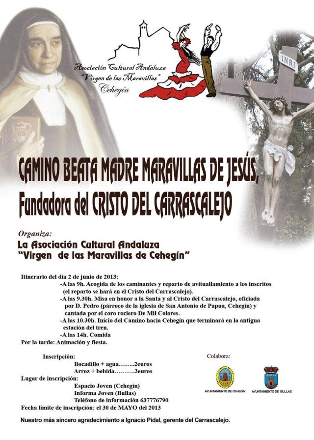 Cartel 'El Camino de Santa Maravillas de Jesús'