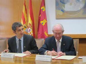 El consejero de Cultura y Turismo y el consejero de Economía y Empleo de Aragón firman un acuerdo