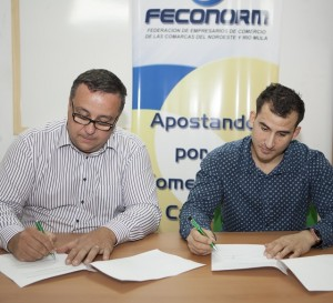 El presidente de FECONORM D. Pedro Fernández Duque y el gerente de la Clínica Innova Centro Odontológico D. Alfonso Rodríguez de Gea