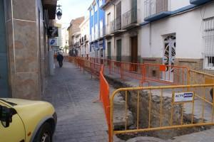 Obras calle Labrador en Calasparra
