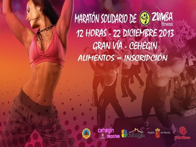 I Maratón solidario de zumba en Cehegín