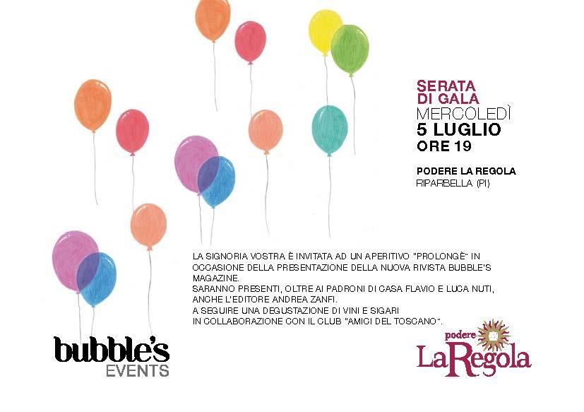 Presentazione Bubbles Italia Magazine presso l'azienda vinicola di Riparbella La Regola, produttrice di Spumante Metodo Classico