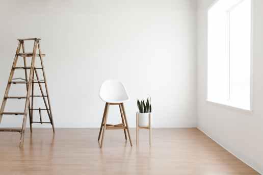white round table near white wall