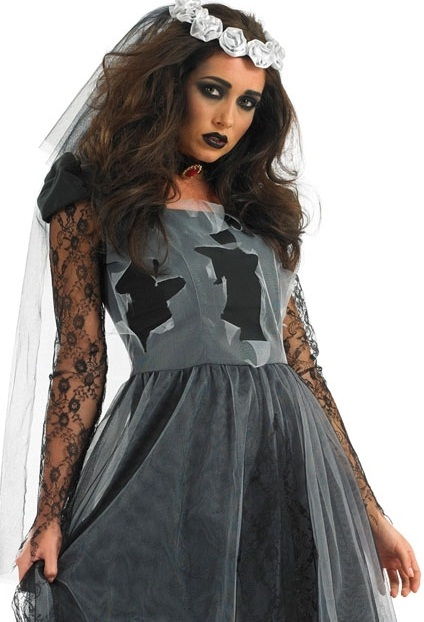 Black Corpse Bride Plus Size Halloween Costume 3054 Plus size fancy dress costumes  Plus