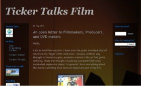 Brutally Blunt Blog Blustering #56: Ticker Talks Film