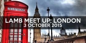 Reminder: London Meet-Up October 3rd