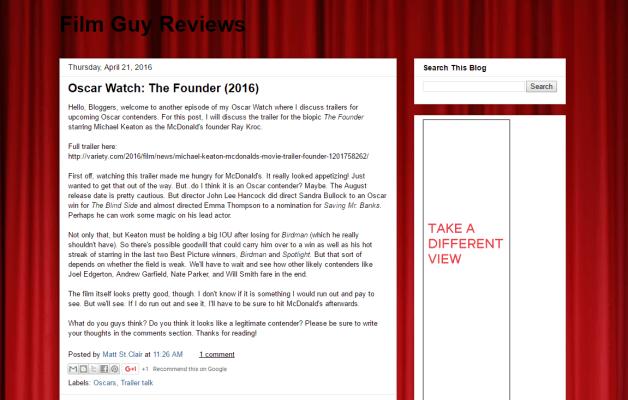 #1796 Film Guy Reviews