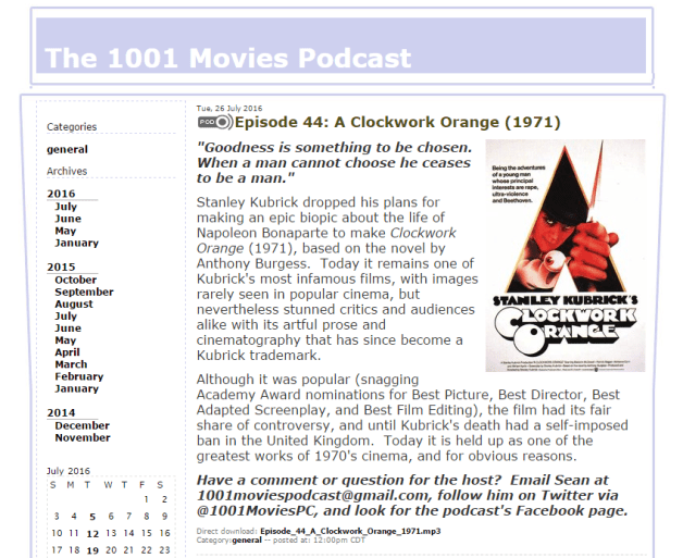 #1863 The 1001 Movies Podcast