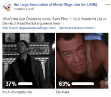 LAMBracket: Best Christmas Movie Semi-Final 1 Results