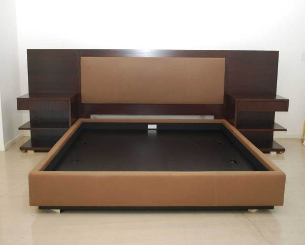 Adorable Series 004 – King Size Bed Set Partly Upholstered With 2 Hanging Bed Sides