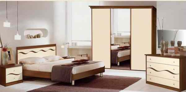 Adorable Series 015 – King Size Bed Set With 2 Night Stands , Chest of Drawers and 3 Door Wardrobe