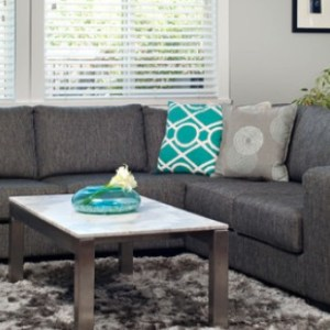 Alloy 5 Seater Sectional Fabric Sofa