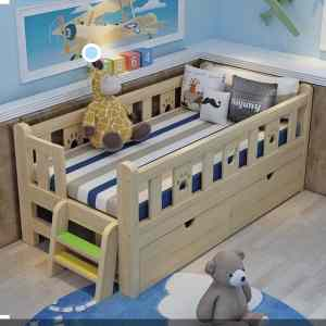 Happy Child Series Single Bedframe (3ft by 6ft) with Inbuilt Base Drawers