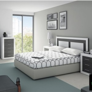 APPLE SERIES KING SIZE (6FT BY 6FT) BEDFRAME + 2 BEDSIDES