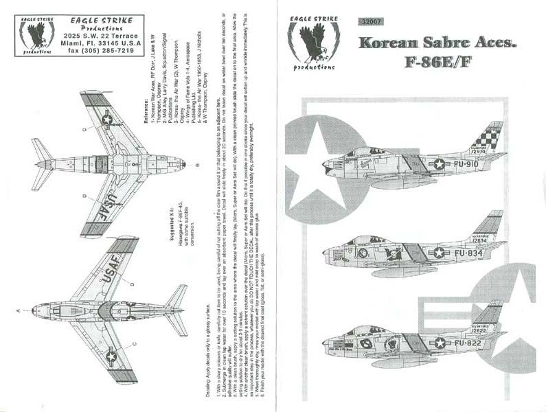 Eagle Strike Productions Korean Sabre Aces F-86E/F (32007