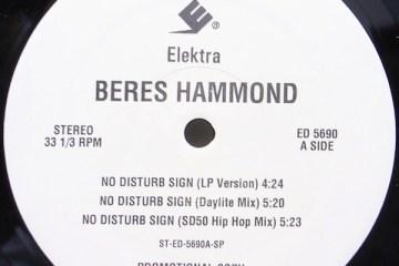 Beres Hammond No Disturb Sign