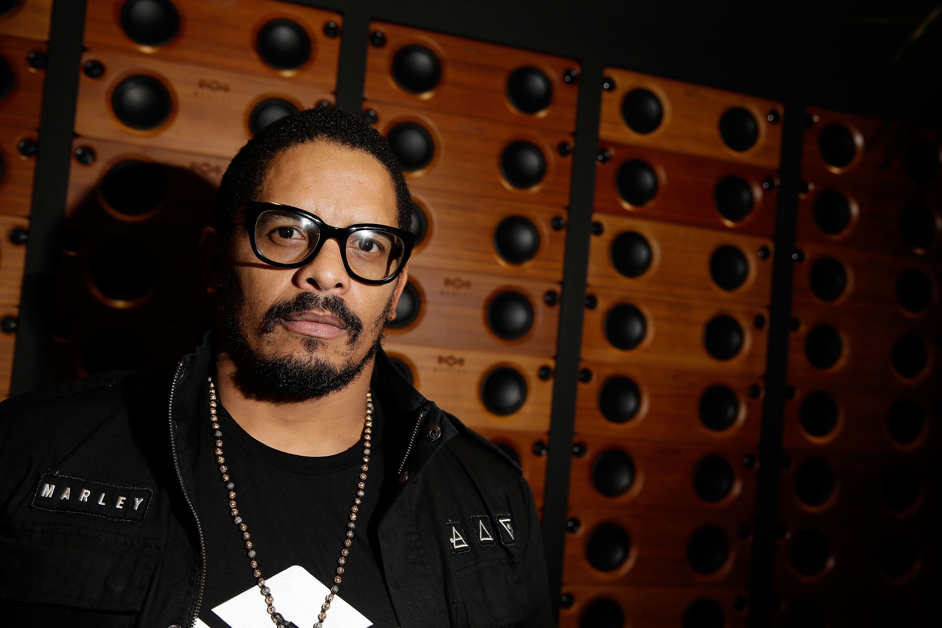 The director and his Foundation: Rohan Marley with the One Foundation all-in-one stereo system.