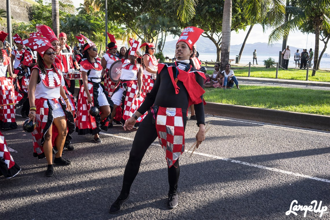 Band Leader at the Foyal Parade in Centre Ville, Fort-de-France, Martinique photo by Adama Delphine Fawundu