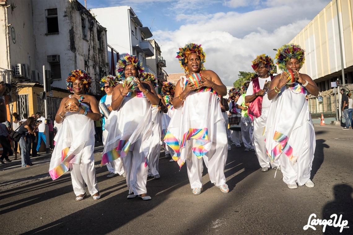 Festive Participants at the Foyal Parade in Centre Ville, Fort-de-France, Martinique photo by Adama Delphine Fawundu