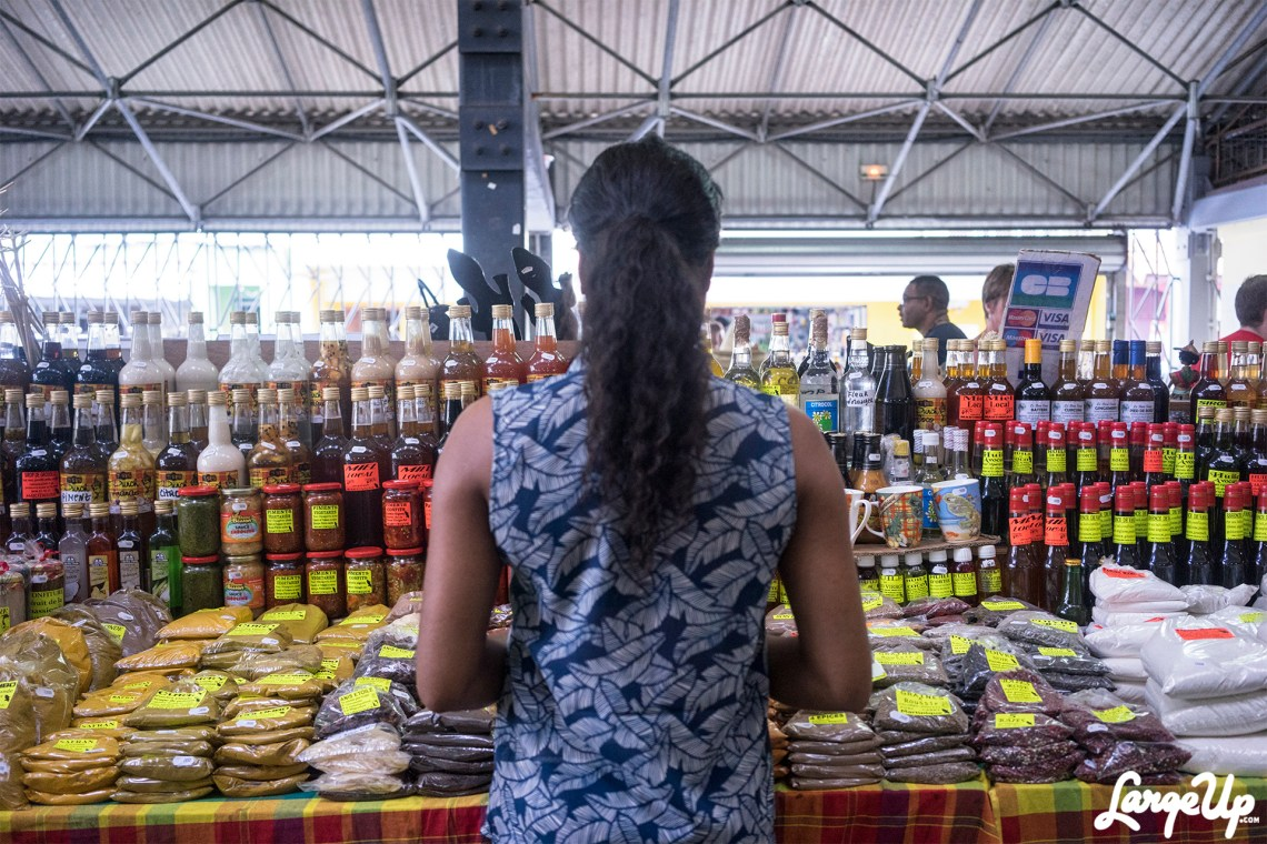 Shopping for some local goods, Le Grande MarchéCouvert, Fort-de-France, Martinique photo by Adama Delphine Fawundu