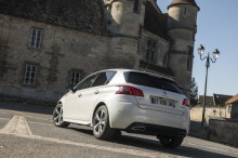 Peugeot 308 GT Line white static left rear
