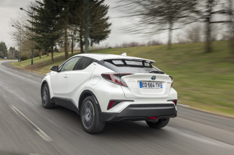 toyota chr hybrid rear view