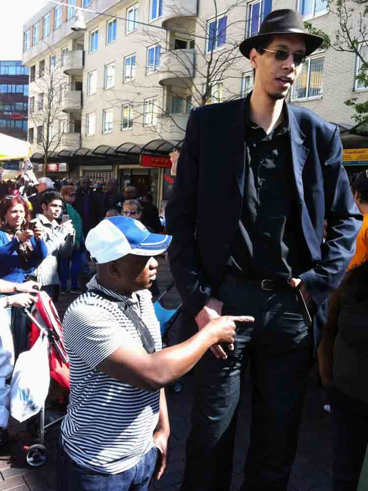 Brahim Takioullah  (2nd Tallest Man in the World on a visit to Amsterdam Southeast
