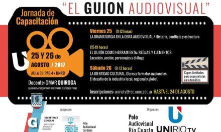 """""""Jornada de Capacitación sobre Guión Audiovisual"""" en UNRC"""