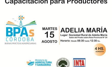 Se realizará una Jornada de Capacitación en Buenas Prácticas Agrícolas