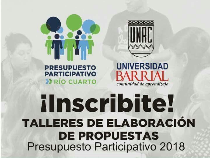Asambleas y talleres barriales del Presupuesto Participativo 2018