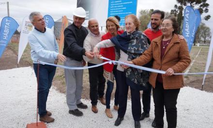 Se inauguró la primera etapa del plan Hábitat en Berrotarán