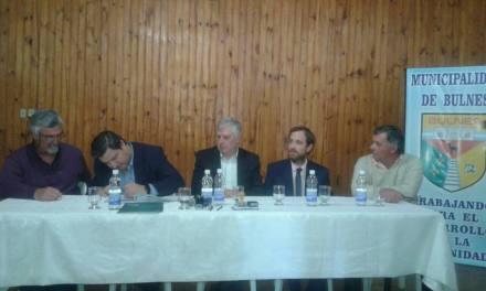 Firma de convenio histórico para Bulnes