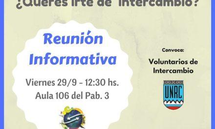 Se realizará una reunión informativa sobre intercambio estudiantil
