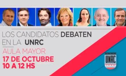 Los candidatos debaten en la UNRC