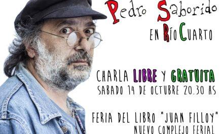 """Pedro Saborido en la Feria del Libro """"Juan Filloy"""""""