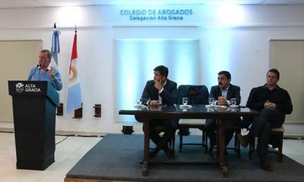 Schiaretti presentó en Alta Gracia el Programa de Obras Públicas de la Provincia