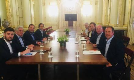 Intendentes de la región reunidos con Marcos Peña