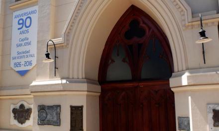 Llamosas acompañó el pedido del Obispo por la Capilla San José