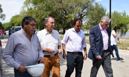 Schiaretti recorrió la obra del Parque de la Costanera Norte en Río Cuarto